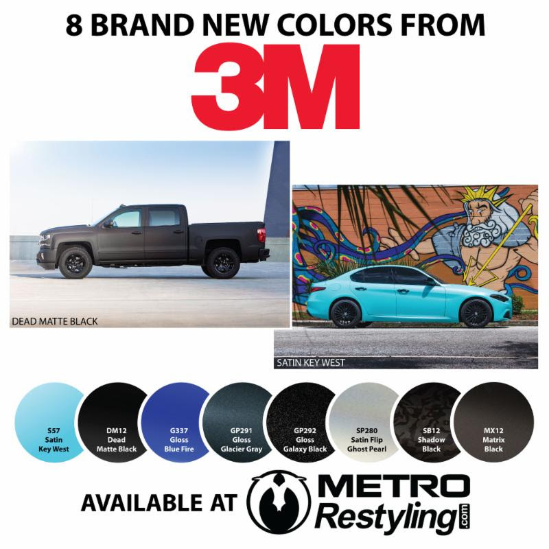 New Vinyl Colors From 3M » Stratton Motor Cars